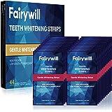 Fairywill Teeth Whitening Strips, 44 Pcs, No Sensitive Teeth Whitener Strips, Enamel Safe Teeth Whitening Kit, White Strips w