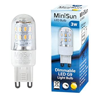 minisun 3w high power energy saving dimmable g9 led light bulb 280 lumens 3000k warm white amazoncouk lighting - G9 Led Bulb