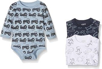 Care Baby - Jungen Langarm-Body im 3er Pack