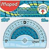 Maped - Rapporteur 180° Base 12 cm - Rapporteur Incassable - Souple - Coloris Bleu