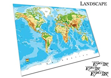Poster Print Detailed World Map Cities Countries Vector SizeA - A3 printable world map