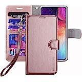ERAGLOW Galaxy A50 Case,Galaxy A50 Wallet Case,Premium PU Leather Wallet Flip Protective Phone Case Cover w/Card Slots & Kick