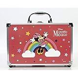 Minnie Mouse Makeup Train Case - Maletín de Maquillaje de 2 Pisos - Set de Maquillaje para Niñas - Maquillaje Minnie Mouse -