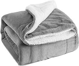 BEDSURE More than comfort Sherpa Decke Flauschige Kuscheldecke/Wohndecke, Super Weiche Fleece Sofadecke/Überwurfdecke, extrem warm mit doppelt genäht zweiseitige sherpawoll&Flanell