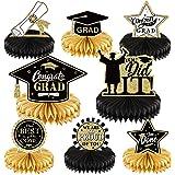 Outus 2021 Graduation Party Decorations Supplies Congrats Grad Honeycomb Centerpieces Congratulate Graduation Table Toppers f