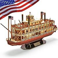 CubicFun Puzzle 3D Modèle de Bateau à Vapeur du Mississippi, Cadeau de Kit pour Enfants et Adultes, 142 Pièces