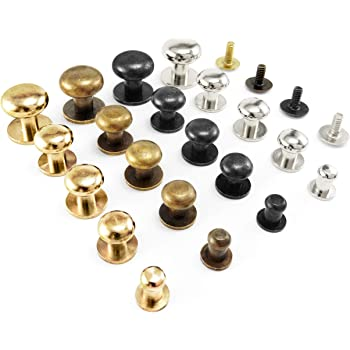 Arts,crafts & Sewing Leathercraft Accessories 10pcs Solid Brass Sam Brown Browne Button Screw Back Round Head Ball Post Studs Nail Rivets Leather Craft Accessory