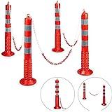 Relaxdays GmbH 10020485_305 4 Flexibele reflecterende berichten met praktische kettingbarrières als parkeerruimtebesparers me