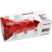Meto Étiquettes pour étiqueteuse manuelle, réf. 9506159 (22 x 16 mm, 2 lignes, 6000 étiquettes, adhésives permanentes…