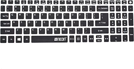 Neon Keyboard Skin for Acer Aspire A315 & A515 15.6 inch Laptop (Black)
