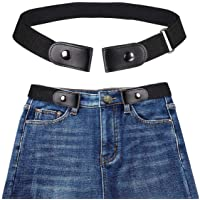 Buckle-free Elastic Invisible Belt for Jeans No Bulge No Hassle Genuine Leather with a Buckle Gift