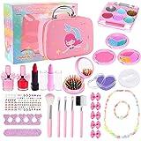 Joyhoop Kit de Maquillaje para Niñas, Maquillaje Niñas Cosméticos Lavables, Regalo de Princesa para Niñas en Fiesta Cumpleaño