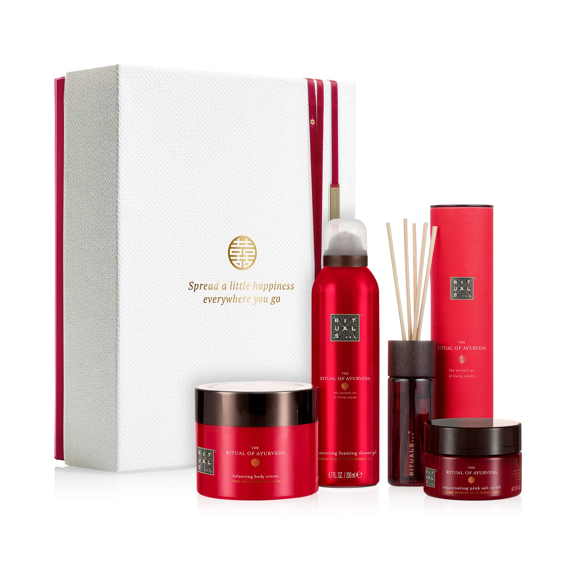 RITUALS The Ritual of Ayurveda Luxury and Relaxing Beauty Gift Set Large for Women, contains a shower foam, body scrub, body cream and mini fragrance sticks