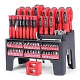 100 pc Juego de Destornilladores magnéticos profesionales con soporte organizador. Conjunto puntas destornillador de precisió