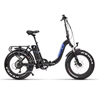 Fitifito klappbar Fatbike FT20 20 Zoll Elektrofahrrad Fatbike E-Bike Pedelec 48V 250W Bafang casstte Heckmotor 9 Gang…