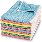 Polyclean Micro-Stripe Microfibre Cloth 40 x 30 cm Pack of 10