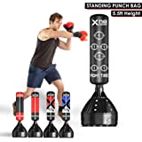 XN8 5.5ft Free Standing Punch Bag Stand | Heavy Duty Kick Boxing Dummy Target | Martial Arts | MMA | Training