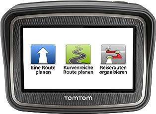 TomTom Rider Europe Premium Pack (V4) Motorradnavigationsgerät (10,9 cm (4,3 Zoll) Display, Free Lifetime Maps, Europa 45, bluetooth, kurvenreiche Strecke, Tyre Pro) schwarz