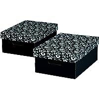 Nips 110047251 / ECO line SILVA Boîte de rangement avec couvercle Noir/blanc Format A4 / 27 x 36,0 x 15,0 cm Lot de 2…
