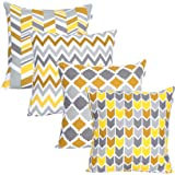 UMI By Amazon Luxurious Velvet Decorative Cushion Covers with Soft Pom Pom for Home, Sofa, Couch, Chair 2pc Pack 40x40 cm in