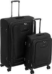 AmazonBasics - Premium-Weichschalen-Trolley mit TSA-Schloss, erweiterbar, 2-teiliges Set à (53 cm, 74 cm), Schwarz