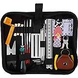 YANSHON Gitarre Reparatur-Werkzeug-Set, 26 Stücke Gitarren Pflege-Set inkl. Saiten Organizer, Saiten-Aktions-Lineal…