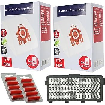 10 Sacchetti per aspirapolvere Miele FJM Sacchetti Hoover S4000 S4210 S4211 s4511 S4560 Aspirapolvere HEPA Filtro Nuovo