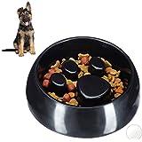 Relaxdays Anti Schling Napf, Fressnapf für Hund & Katze, Langsam Fressen, Futternapf, spülmaschinenfest, versch. Farben