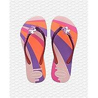 Havaianas Kids Slim Glitter II Rosa (Candy Pink) Gomma Ragazzo Flip Flop Sandali