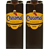Chocomel Dark Choco Cacao karton, set van 2, drinkchocolade, Holland chocolade, donkere drank chocolade, 1 l