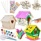 Tacobear 3 Pièce Maison D'oiseau Bricolage Kit pour Enfant Construire Maison Oiseau en Bois Maison D'oiseau Peindre Jouet Kit