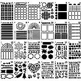 MWOOT 24 Pièces Bullet Journal Pochoir Dessin Peinture Set, Pochoir de Dessin en Plastique Gabarits pour Enfant l'apprentissa