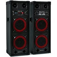 Skytec SPB-28-kit karaoké haut-parleurs, Enceintes amplifiées actives, Idéal pour le karaoké, Puissance maximale de 800…