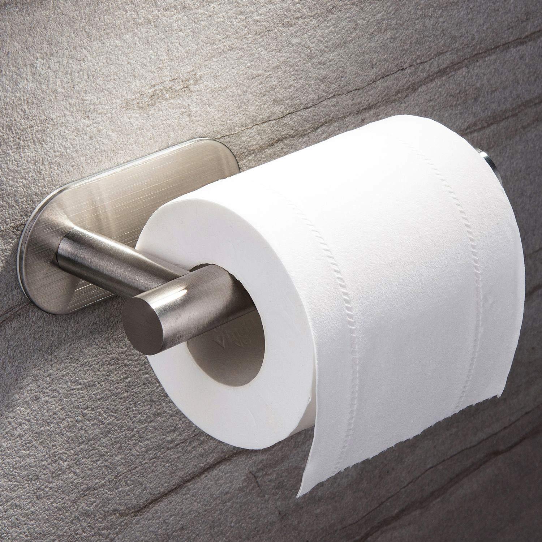 Ruicer Portarrollo para Papel Higiénico Autoadhesivo Portarollos Baño Acero Inoxidable