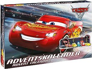 Craze 57361 Disney Cars 57361-Adventskalender Disney Pixar Cars 3, Mehrfarbig
