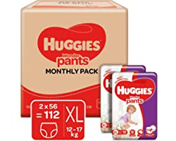 Huggies Wonder Pants Extra Large (XL) Size Baby Diaper Pants Monthly Pack, with Bubble Bed Technology for comfort, (12.0 kg -