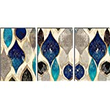 SAF Set of 3 Rangoli Abstract MDF Self Adhessive UV Textured Painting 27 Inch X 12 Inch(Each Painting Size 12 Inch X 9 Inch)
