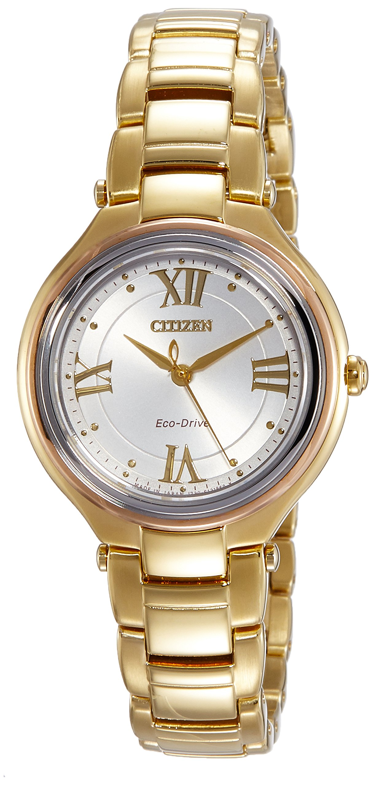 Citizen Analog White Dial Women's Watch-FE2043-52A
