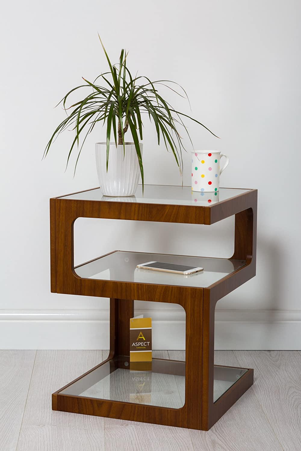 Aspect rossini triple level side tablecoffee tableend tablelamp aspect rossini triple level side tablecoffee tableend tablelamp table walnut wood amazon kitchen home geotapseo Image collections