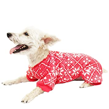Buy Hotel Doggy Fair Isle Red PJs, XXX-Large, Cranberry Online at ...