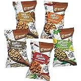 SHREGO Flavour Roasted Peanut Variety Combo Pack 700g (Mirch Masala, Chilli Garlic, Black Pepper, Nimbu Mirchi Pudina, Hing J