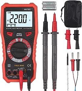 Digital Multimeter Trms 6000 Counts Manual Range Ac Dc Voltmeter Ammeter Ohmmeter With Backlit Capacity Temperature Live V F C Baumarkt