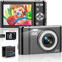4K Appareil Photo Numérique Compact 48MP Mini Video Camera 2,8 Pouces 16X Digital Zoom Rechargeables Vlogging Appareil…