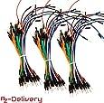 AZDelivery 3 x 65Stk. Jumper Wire Kabel Steckbrücken für Arduino Breadboard, Steckbrett