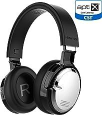 Active Noise Cancelling Kopfhörer Bluetooth Kabellos New Bee Bluetooth 4.2 Wireless Kopfhörer mit aptX Low Latency Mikrofon Tiefbass HiFi Stereo über Ohr 60H Spielzeit für Reisen/TV/Computer/iPhone(Schwarz)