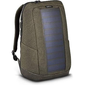 c6a98b6f7b SunnyBAG Iconic Zaino Solare per Laptop, Pannello Solare da 7 Watt. Olive  Brown