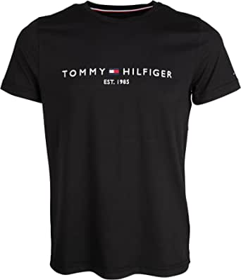 Tommy Hilfiger Men's Tommy Flag Hilfiger Tee Sports Shirt, Blue (Blue Quartz 439), S