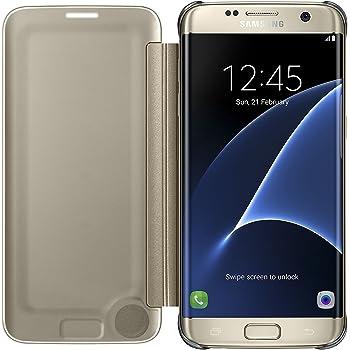 8ff61020957713 Samsung Clear View Etui pour Samsung Galaxy S7 Edge Or  Amazon.fr ...
