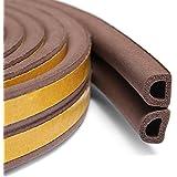MMT Acoustix® Soundproofing Door/Window EPDM Strip Door Seal 18 ft Brown D Shape