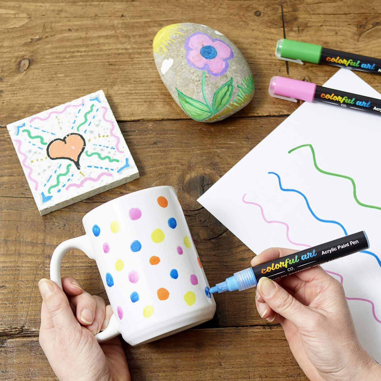 Marker New Pen Glass Paint Pens Premium Acrylic /& Rock Painting Kit For Rocks